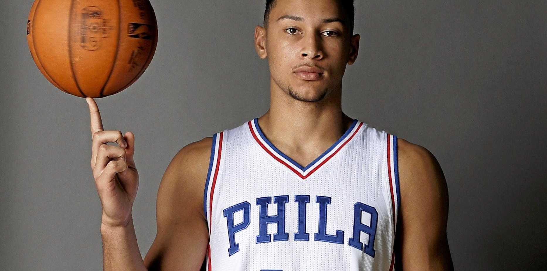 The Philadelphia 76ers' No.1 draft pick Ben Simmons.
