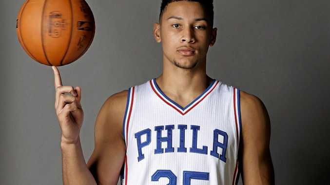 The Philadelphia 76ers' No.1 draft pick Ben Simmons.
