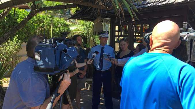 Members of the Byron Liquor Accord and the police force address the media about the Byron Alcohol Action Plan.
