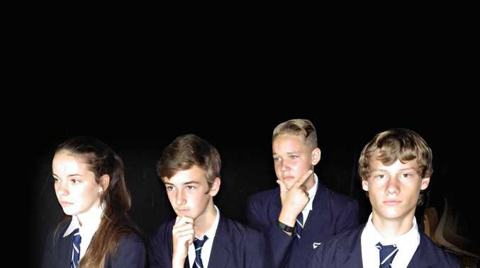 GOOD TALKERS: Briellen Keenes, Blair Haynes, Declan Ellis and Bryce Chapman are the Casino High School year 7-8 debating team