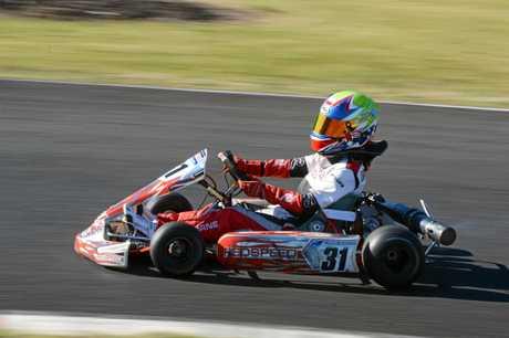 Eryn Osborne in action at a Lismore Kart Club meet.