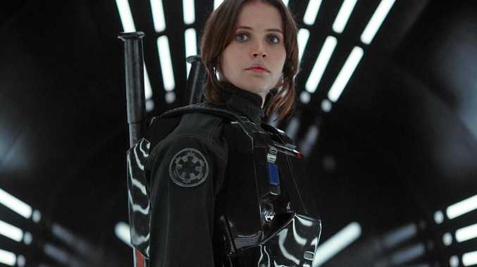 FOR REVIEW AND PREVIEW PUPROSES ONLY. Felicity Jones in a scene from the movie Rogue One: A Star Wars Story. Supplied by Disney.