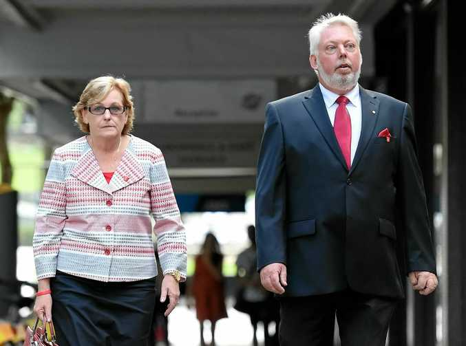 Bruce and Denise Morcombe arrive at the Federal Court in Brisbane earlier this year. They returned to Brisbane yesterday as the inquest into Daniel's death resumed.