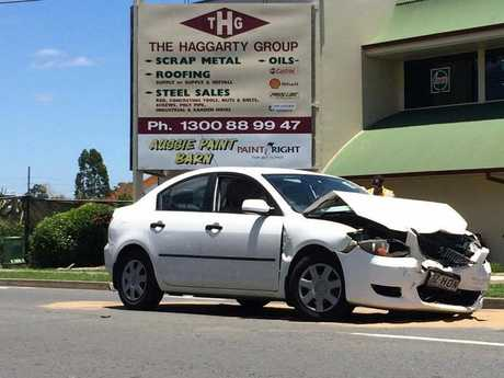 Three people were taken to Ipswich Hospital after the crash.