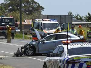 Seven vehicle pile up at Ulmarra