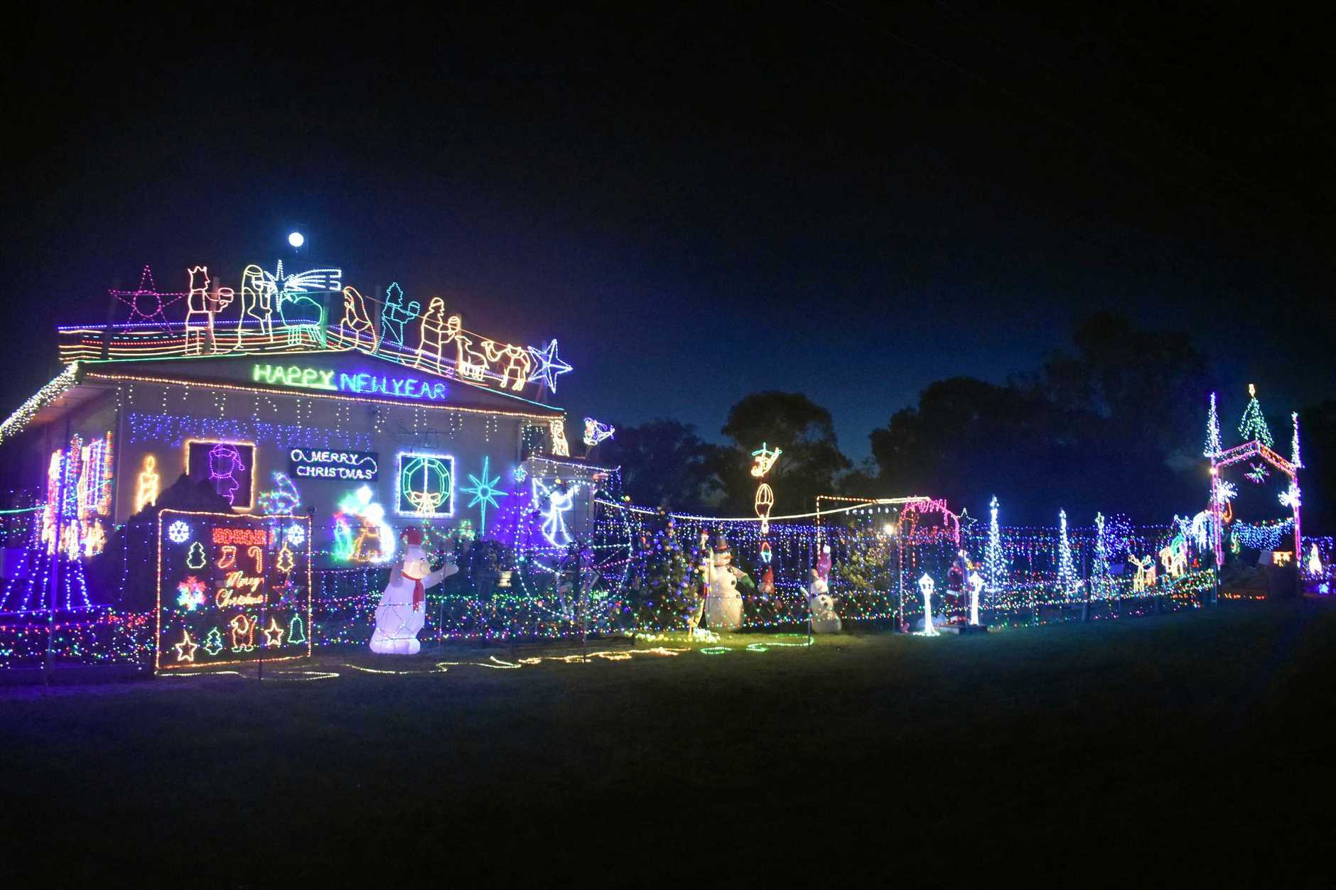 WONDERLAND: 28 Etty Street took out first prize in the house and garden categories for their amazing Christmas light display.