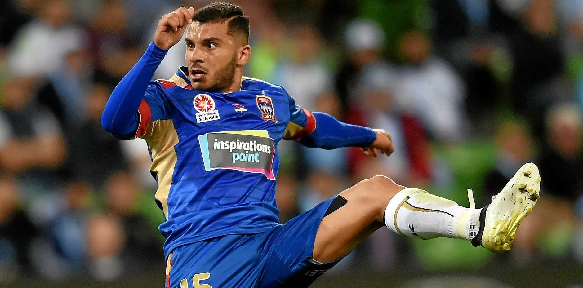 Andrew Nabbout of the Jets has had a promising start to the season.