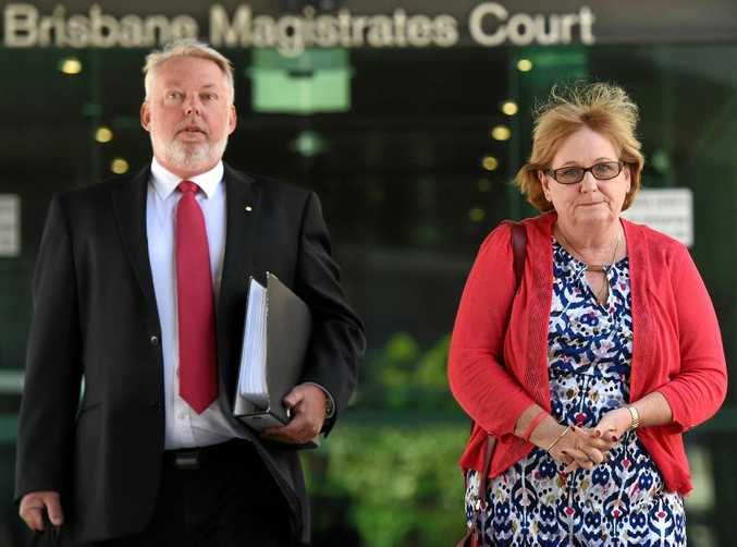 Bruce and Denise Morcombe leave the Magistrates Court in Brisbane, Thursday, Dec. 15, 2016. They have attended an inquest into the police response to the disappearance and subsequent murder of their son Daniel in 2003 on the Sunshine Coast.