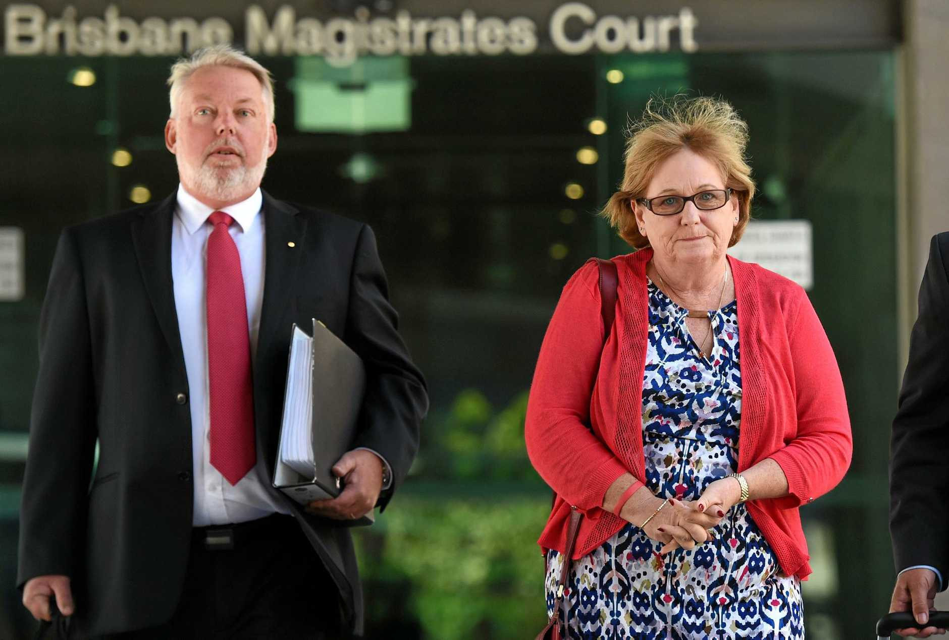 Bruce and Denise Morcombe leave last year's inquest into the police response to the disappearance and subsequent murder of their son Daniel in 2003 on the Sunshine Coast. (AAP Image/Dan Peled)