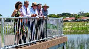 ON SITE: The Jim Donald parklands wetlands are a joint effort between State Government, Ipswich City Council and developer Citimark.