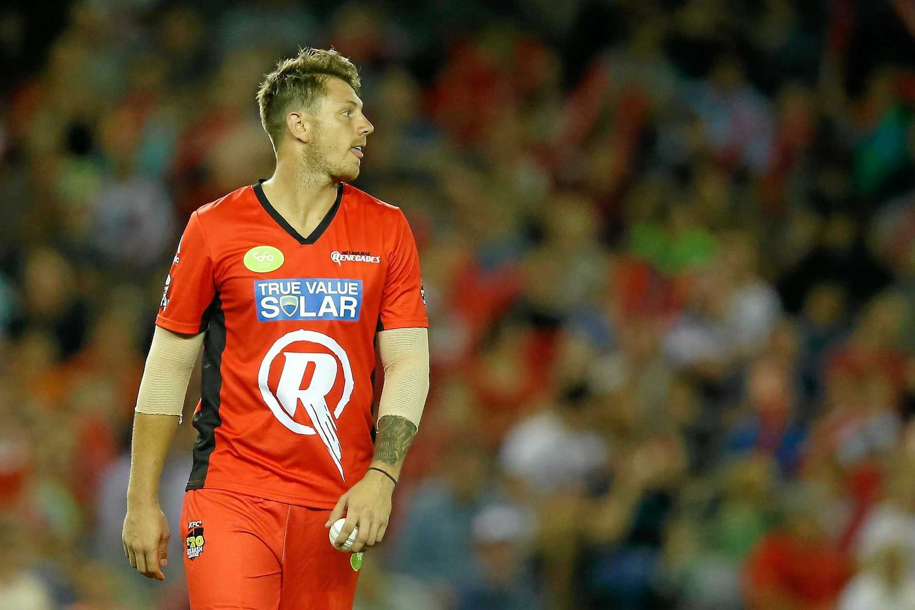 James Pattinson ready to send one down for the Melbourne Renegades.