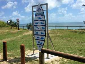 Sign of the times: New surf message at North Wall Beach