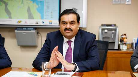 Adani Group chairman Gautam Adani meets with Queensland premier Annastacia Palaszczuk (not pictured) at the Port of Townsville, Tuesday, Dec. 6, 2016. Source AAP.