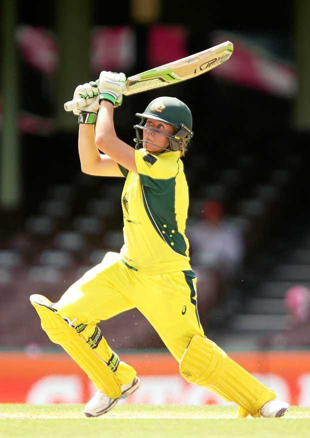 BREAKING BOUNDARIES: Beth Mooney, of Australia, bats during the International Twenty20 match between Australia and India at Sydney Cricket Ground.