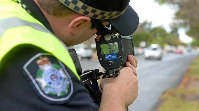 ROAD SAFETY WEEK: Constable Matthew Bedding participating in speed management LiDAR training in George Street.