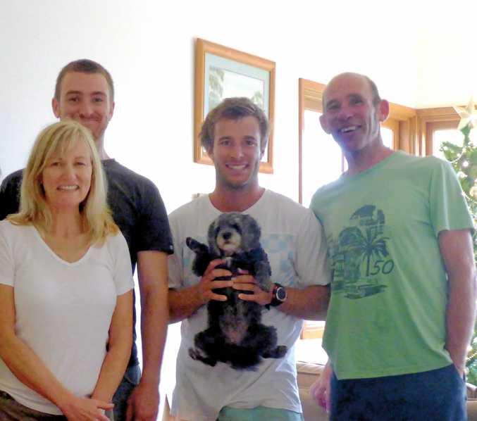 FAMILY MAN: Cheryl, Nick, Lex and Hans Battaerd.