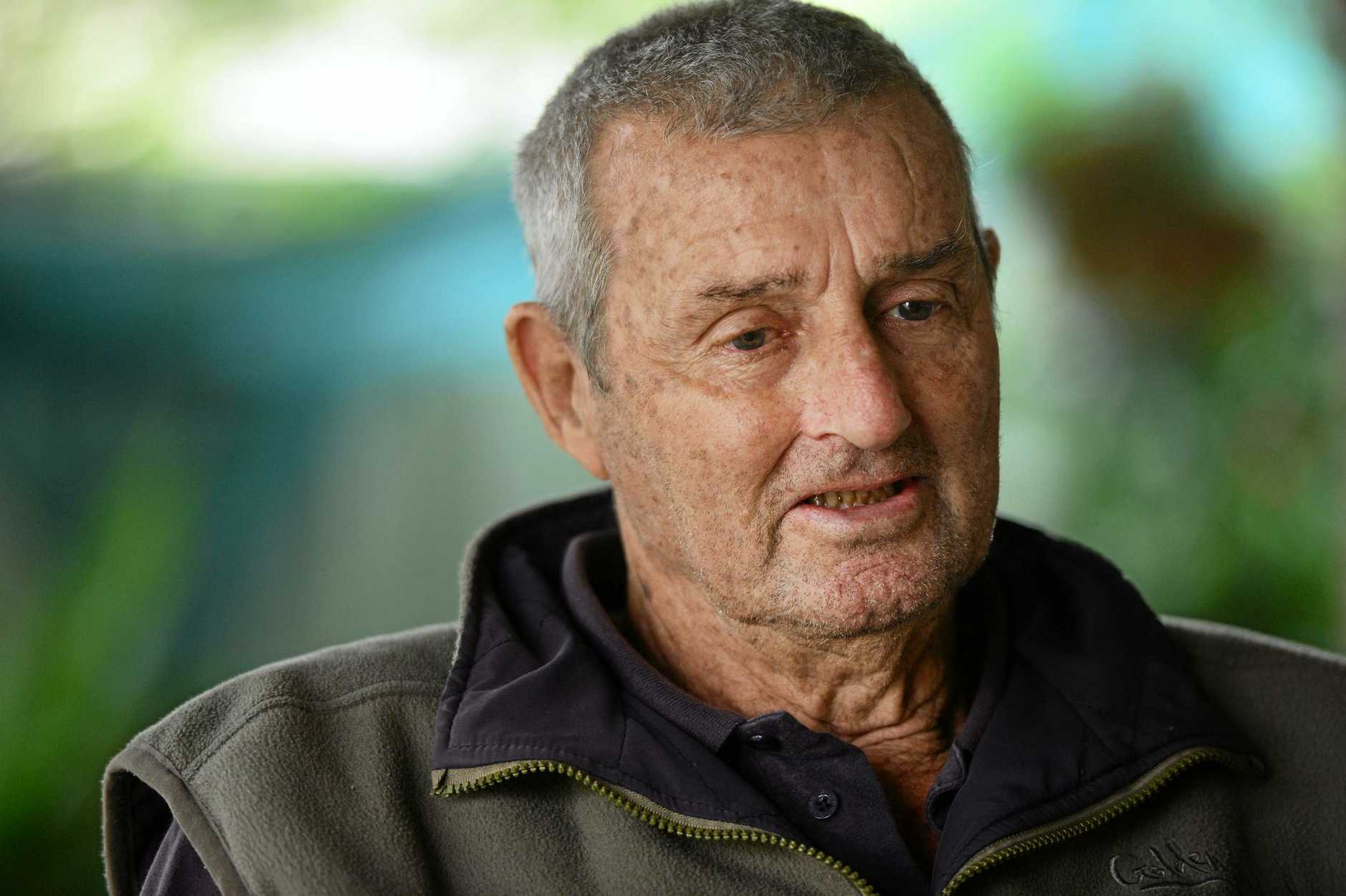 Percy Verrall suffers from 'black lung' disease caused by his time spent coal mining.