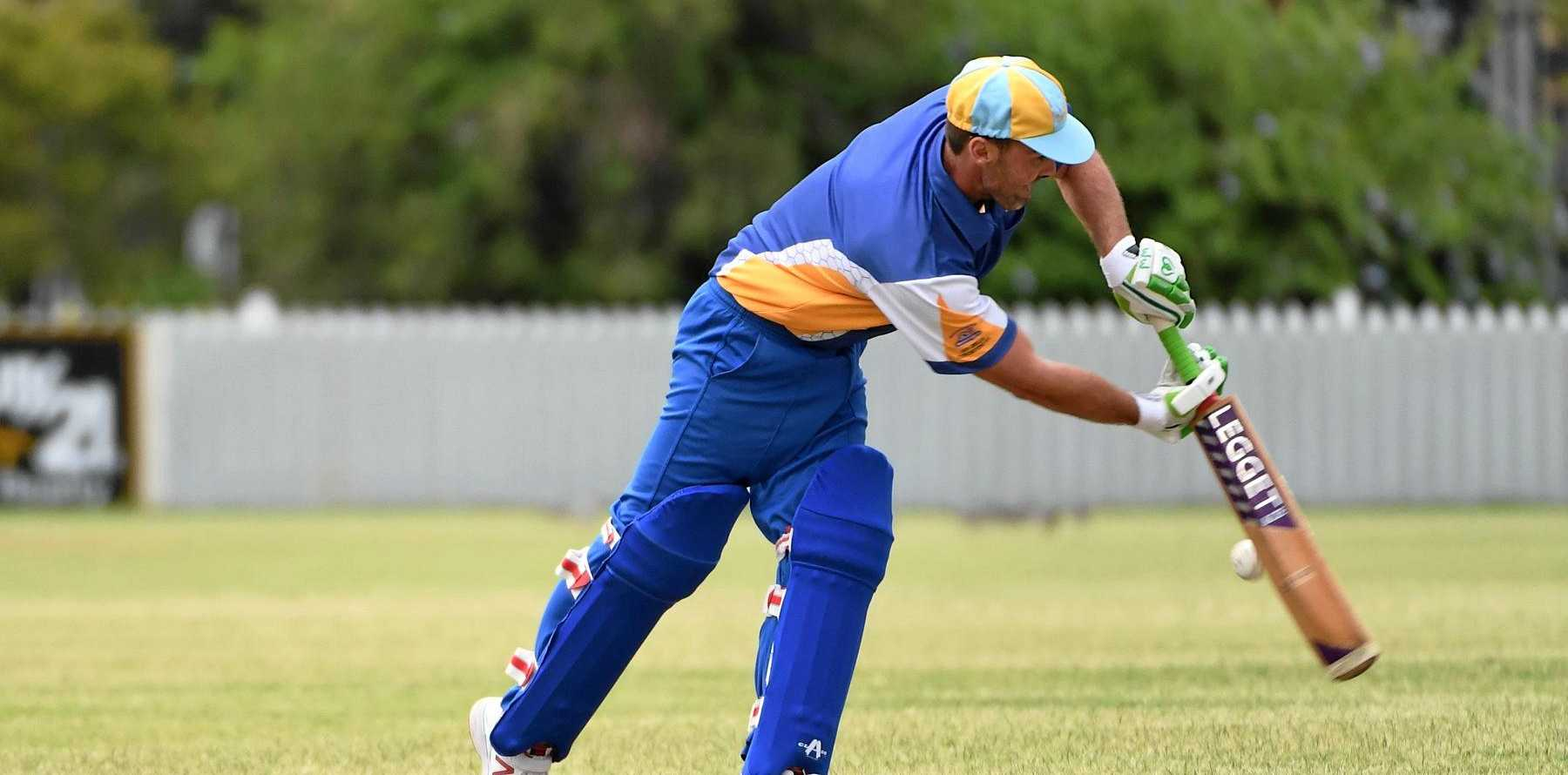 SHOT: Michael Loader guides the ball on to the leg side for The Waves in the T20 at Salter Oval.