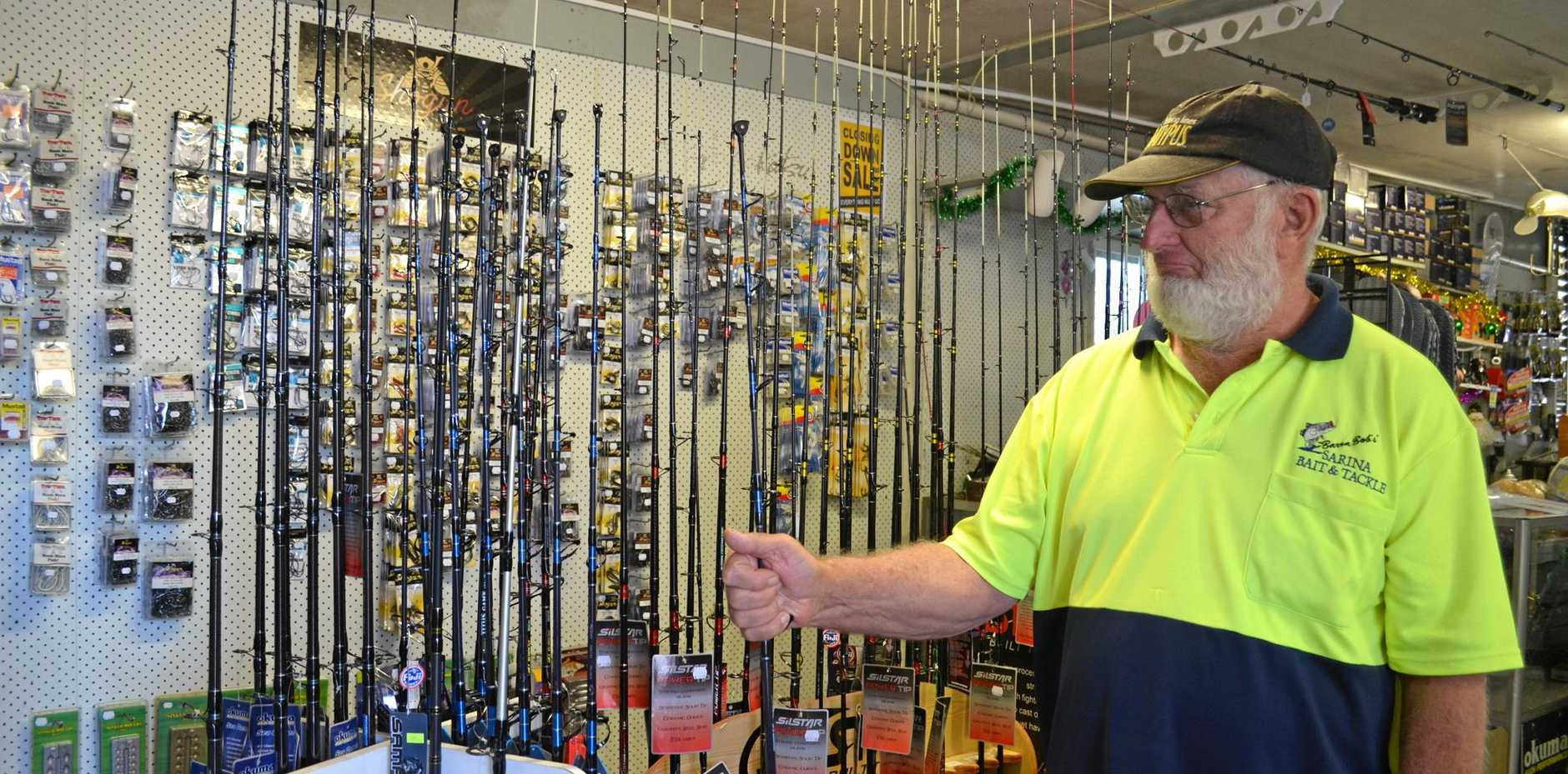 Bob Neilsen, of Barra Bob's Sarina Bait Supplies, will retire on December 31, closing down his shop.