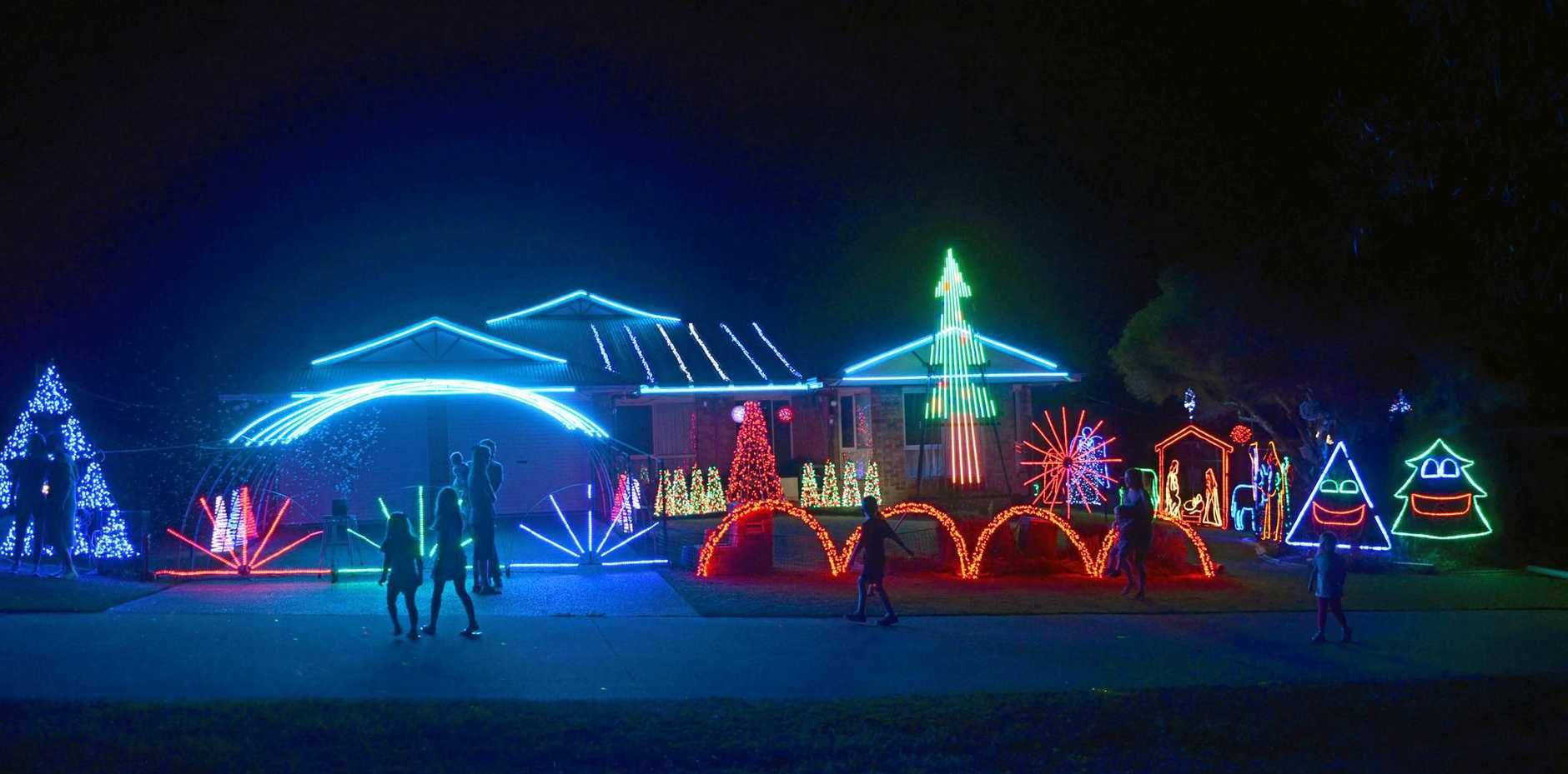 123 Bisley St: Park your car and tune into 97.9 FM and enjoy the Christmas light show.