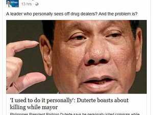 Philippines president says he killed three people as mayor