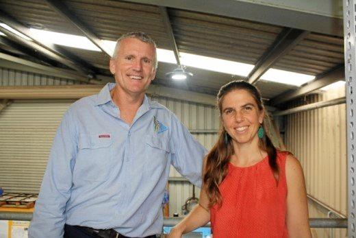 Rod Teale with Sandi Middleton checking out the new Depot lights.