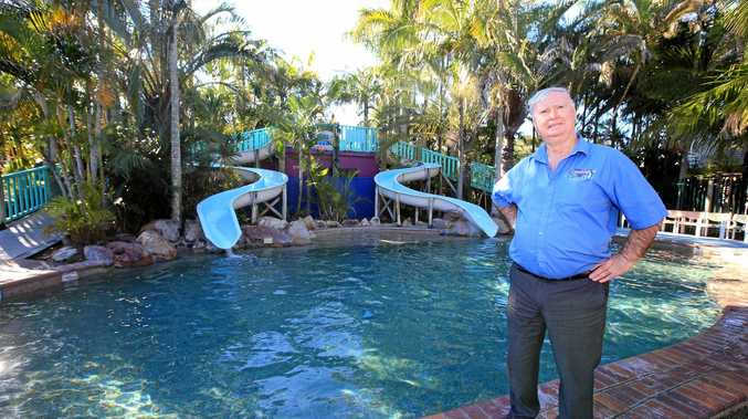 APPEALING: Big 4 Caravan Park Manager Ian Beadel will appeal council's decision to reject his application to redevelop the park's water slide.