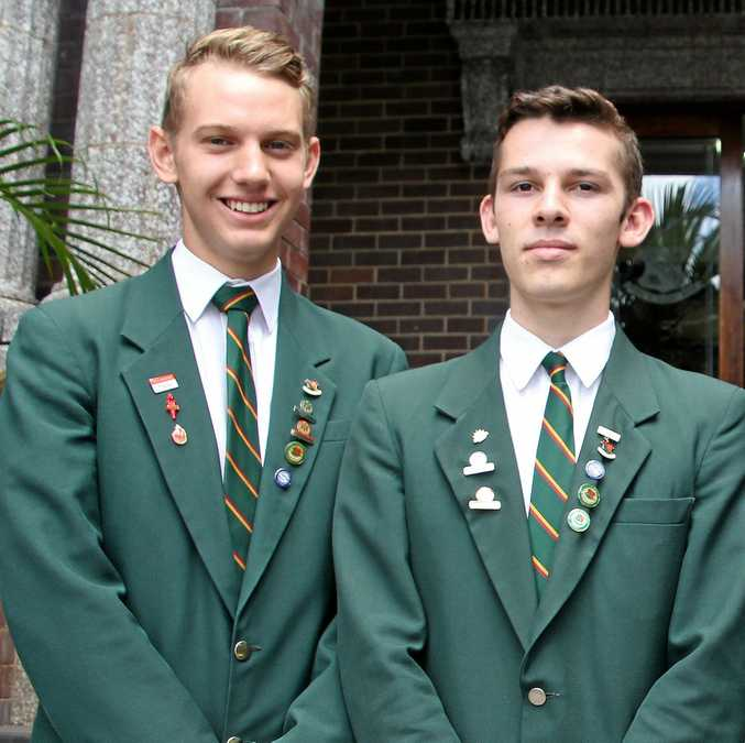 AMBITIOUS: St John's College Woodlawn students Jordan Gamble and Jye Beardow.