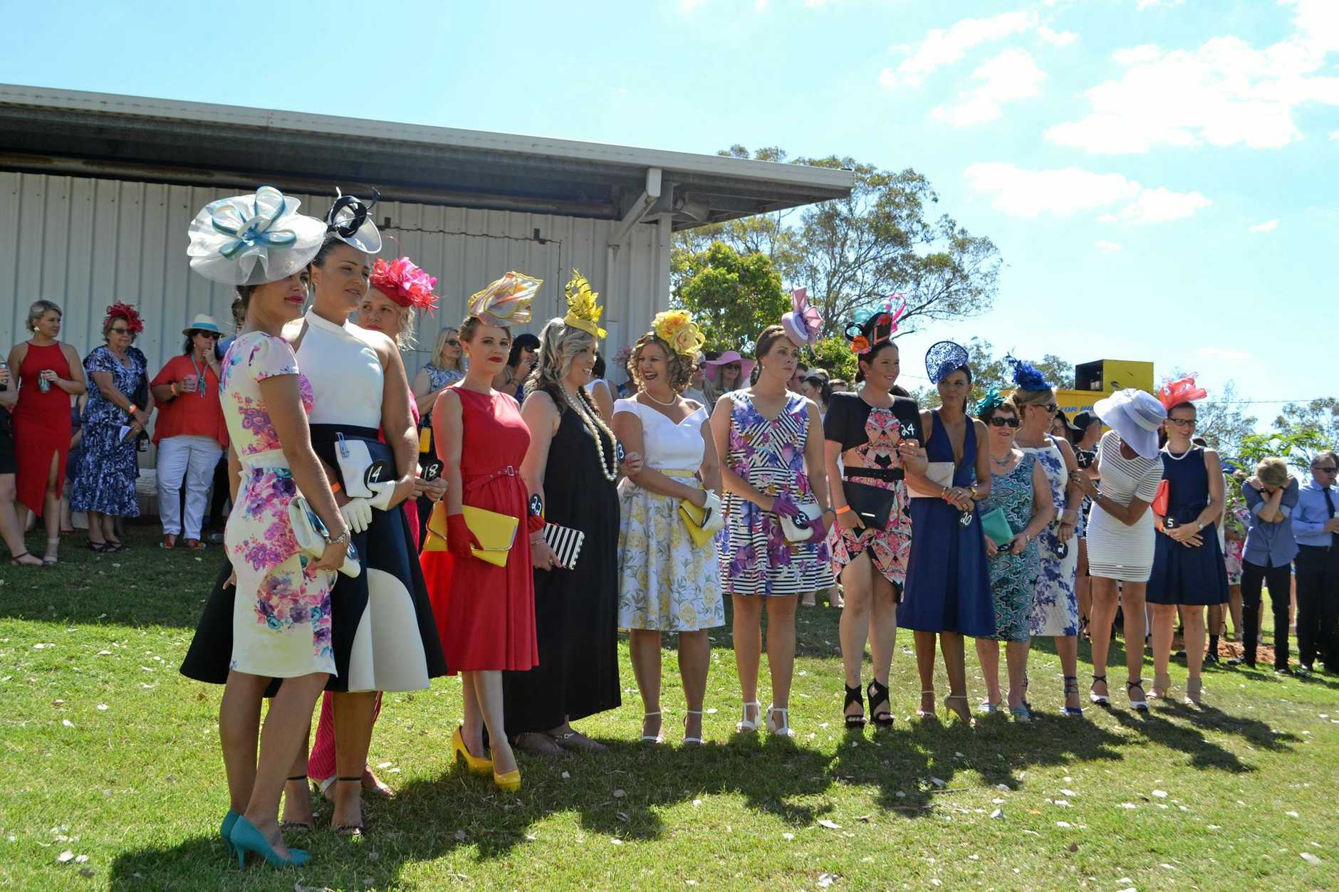 Fashions on the Field at last year's Chinchilla Cup Day.