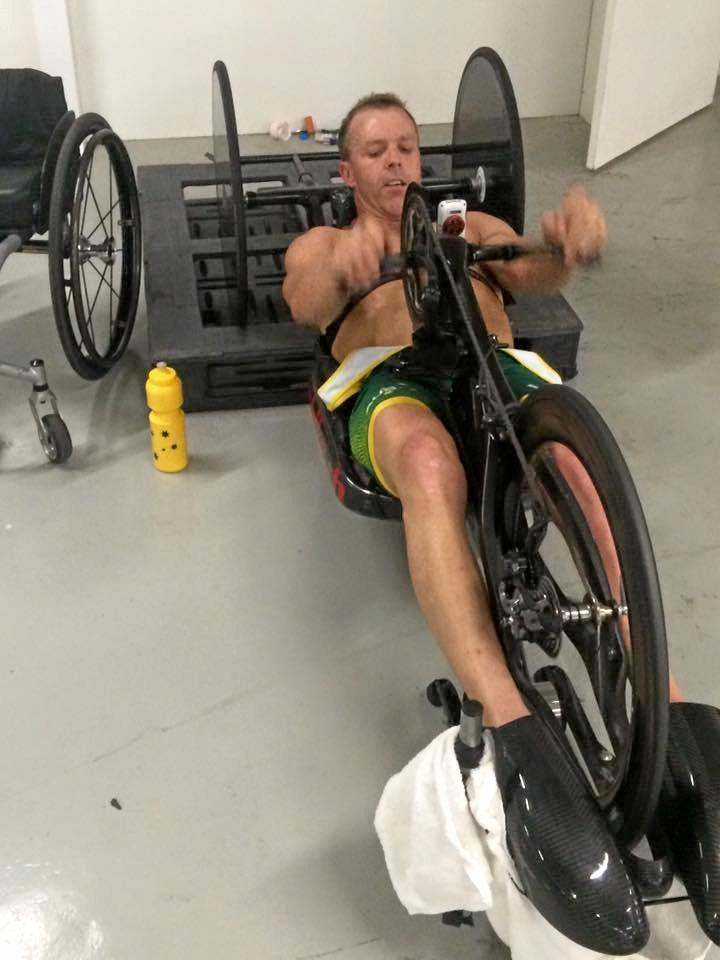 Bill Chaffey training in Rio