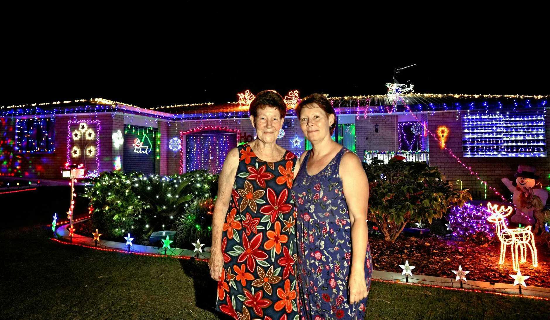 Christmas lights in Gympie 2016 entrant Evelyn & Debbie Weier  10 Heather Street, Gympie