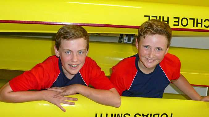 Joshua Cool and Izak Jamieson from Springfield Anglican College have taken up rowing and dream of becoming professional athletes when they are older.