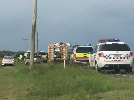 Two ambulance crews are on scene.