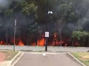 Fire blazes at Mountain Creek