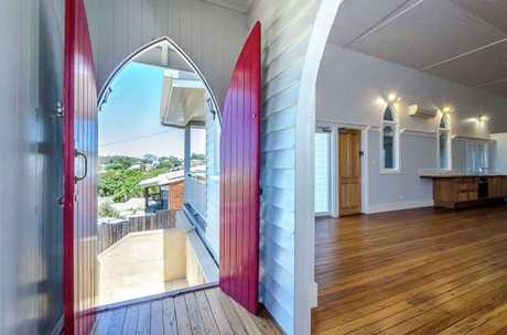 The chapel at 9 Williamson St which has been turned into a family home is on the market.