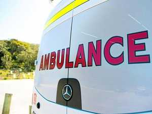 Man taken to hospital with fractures after roof fall