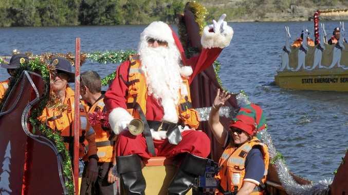 The SES Santa visits the Big River Ski Lodge