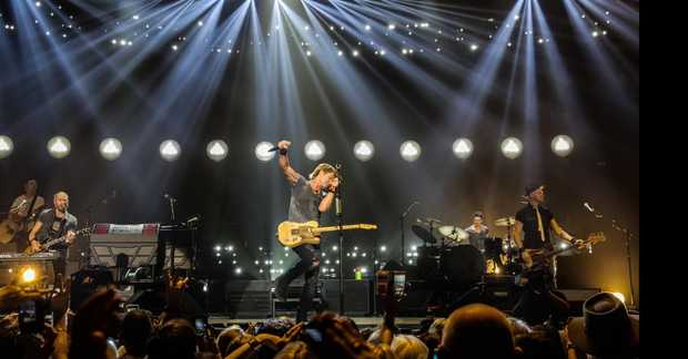 Keith Urban in concert in Brisbane
