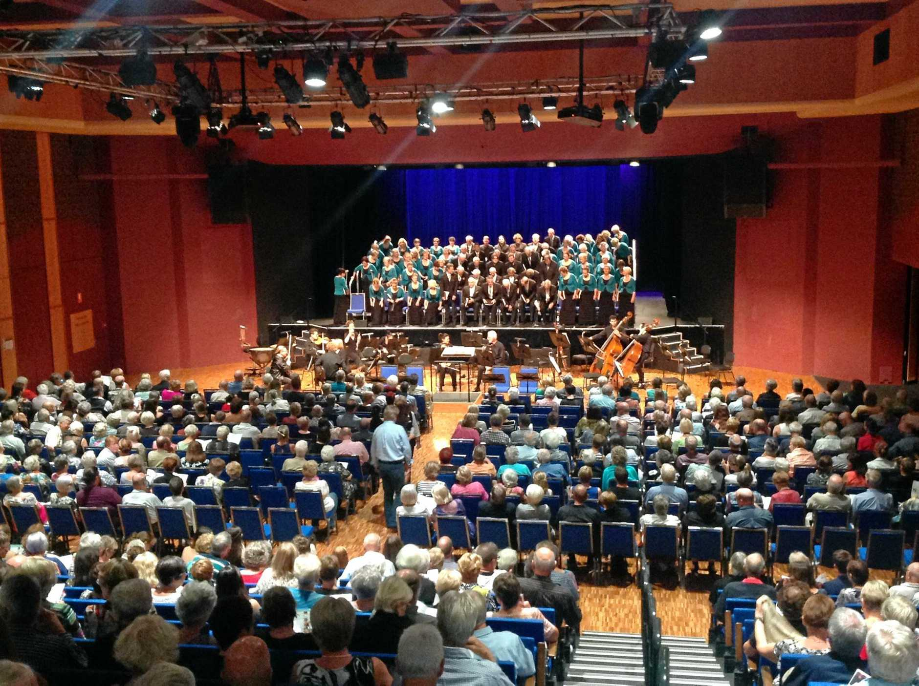 Sunshine Coast Oriana Choir and the Queensland Symphony Orchestra prepare for their sell-out performance of Handel's Messiah at Caloundra Events Centre.