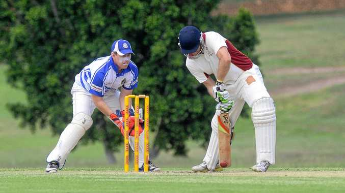 Centrals batsman Adam O'Sullivan digs one out at Mark Marsh Oval on Saturday.