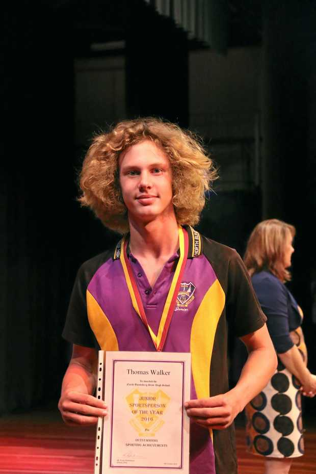 SPORT STAR: Thomas Walker was named Bundaberg North State High School's junior sportsperson this year. He was involved in surf life saving, rowing and athletics.