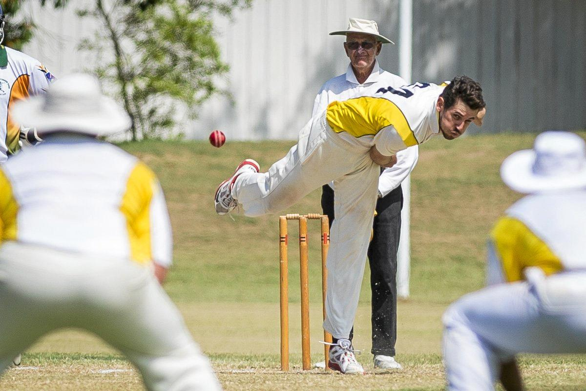 FOUR FOR: Jason Seng did his bit with the ball with 4-24, but the batsmen failed to fire.
