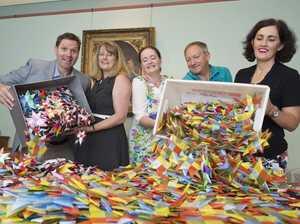 Catholic school students wishing upon nearly 3000 stars