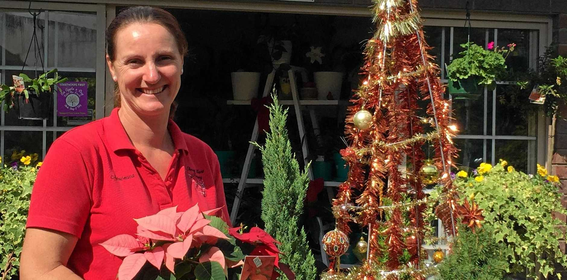 GOOD BUSINESS: Morwenna Harslett at Cherry Lane Nursery is just one of the local businesses participating in the promotion.