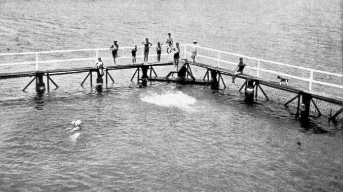 POPULAR SPOT: Ballina's saltwater baths, c.1940s