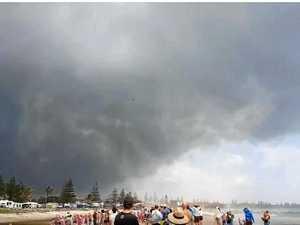 WATCH: Mini sand tornado sends nippers fleeing