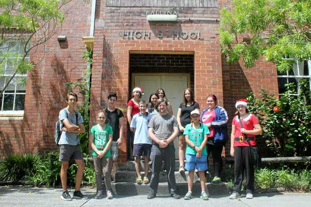 SCHOOL'S OUT: These Ballina High students were last Friday the last students at the school which will be demolished next year to make way for the new Ballina Coast High School.