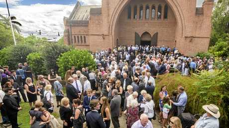 The Christ Church Cathedral was full at the funeral of Spiro Notaras.Photo Adam Hourigan / The Daily Examiner