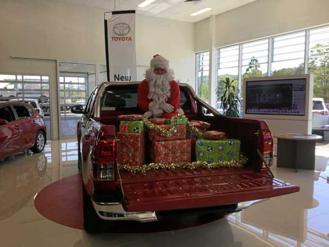 Lismore Toyota and Santa have joined forces to help make sure underprivileged children have a memorable Christmas.
