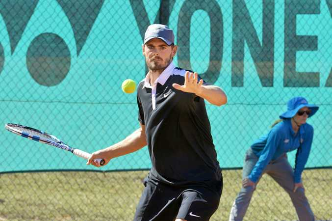 File photo of Lismore tennis player Brendan Moore. Moore is the defending champion at the Ballina New Year Open.